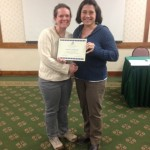 2015 ShowMe SWCS President Award presented to Sarah Szachnieski (L) by Kim Worth (R)
