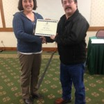 2015 ShowMe SWCS President Award presented to Mike Morris (R) by Kim Worth (L)